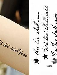 cheap -10 pcs Tattoo Stickers Temporary Tattoos Message Series Body Arts Brachium