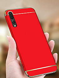 cheap -Case For Huawei Huawei P20 / Huawei P20 Pro / Huawei P20 lite Plating / Ultra-thin Back Cover Solid Colored Hard PC / P10 Plus / P10 Lite / P10