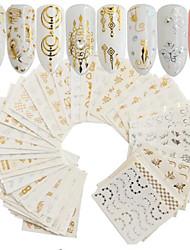 cheap -30 pcs Artificial Nail Tips Nail Art Kit Full Nail Stickers nail art Manicure Pedicure Portable Nail Decals Daily