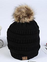 Недорогие -Жен. Активный Широкополая шляпа Хлопок,Однотонный Осень Зима Серый Винный Хаки