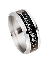 cheap -Men's Band Ring 1pc Silver Stainless Steel Metal Alloy Circle Holiday Rock Professional Club Jewelry Ball