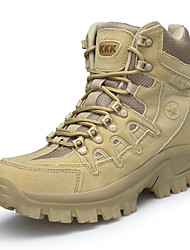 cheap -Men's Suede Shoes Suede Fall & Winter British Boots Hiking Shoes Warm Black / Khaki / Athletic / Outdoor / Desert Boots