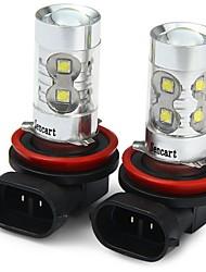 Недорогие -SENCART 2pcs H11 / H8 Мотоцикл / Автомобиль Лампы 50W SMD LED 3100lm 10 Светодиодная лампа Противотуманные фары For Универсальный Все года