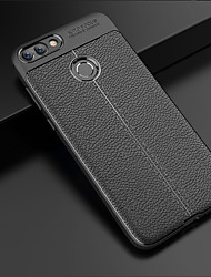 cheap -Case For Huawei Huawei P smart Embossed Back Cover Solid Colored Soft TPU