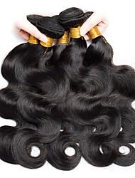 cheap -6 Bundles Indian Hair Wavy Unprocessed Human Hair Natural Color Hair Weaves / Hair Bulk Human Hair Extensions Natural Color Human Hair Weaves New Arrival For Black Women Human Hair Extensions / 8A