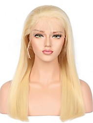 cheap -Remy Human Hair Lace Front Wig Gaga style Malaysian Hair Straight Blonde Wig 130% Density with Baby Hair Natural Hairline African American Wig For Black Women Women's Long Human Hair Lace Wig hairjoy