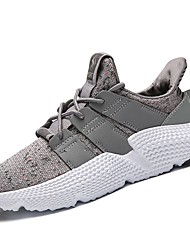 cheap -Men's Comfort Shoes Knit / Customized Materials / Fabric Spring / Fall Sneakers Running Shoes / Walking Shoes Black / Army Green / Gray / Athletic