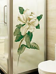 Недорогие -С цветами / Современный 116 cm 60 cm Стикер на окна / Матовая Гостинная / Для гостиной ПВХ