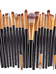 cheap -Professional Makeup Brushes Make Up 20-Pack Eco-friendly Professional Artificial Fibre Brush Plastic for