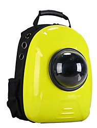 cheap -Dog Rabbits Cat Carrier Bag & Travel Backpack Waterproof Portable Mini Pet Oxford Cloth Creative British Fashion Yellow Red Green