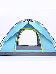 cheap -Shamocamel® 4 person Automatic Tent Outdoor Windproof Rain Waterproof Double Layered Automatic Dome Camping Tent 2000-3000 mm for Fishing Camping / Hiking / Caving Picnic Glass fiber Polyester Oxford