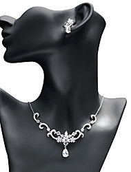 cheap -Women's Cubic Zirconia Jewelry Set Drop Earrings Pendant Necklace Drop Star Fashion Elegant Earrings Jewelry White For Wedding Party