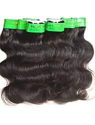 Недорогие -8 Связок Индийские волосы Естественные кудри Не подвергавшиеся окрашиванию человеческие волосы Remy Плетение Естественный цвет Ткет человеческих волос Удлинитель Sexy Lady Горячая распродажа / 10A