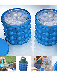cheap -Ice Bucket & Wine Cooler Stretchy for Silicon Outdoor Camping Travel Blue