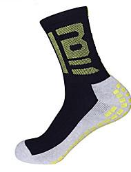 Недорогие -Футбольные носки Футбольные Носки Хлопок Муж. Однотонный Носки Длинные носки Противозаносный Пригодно для носки Non Slip Для занятий спортом 1 пара