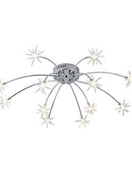 cheap -12 Bulbs JLYLITE 60 cm Mini Style Flush Mount Lights Metal Glass Electroplated Artistic / Nature Inspired 110-120V / 220-240V / G4 / SAA / FCC / VDE