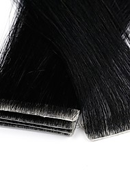 cheap -Neitsi Tape In Human Hair Extensions Straight Remy Human Hair Extension Brazilian Hair Black Blonde 1pack Party Extention New Women's Light Blonde