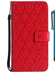 Недорогие -Кейс для Назначение Motorola MOTO G6 / Moto G6 Plus / Moto G5 Кошелек / Бумажник для карт / со стендом Чехол Цветы Твердый Кожа PU