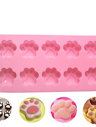 cheap -10 Holes Cat Dog Claws Silicone Cake Mold DIY Chocolate Decorating