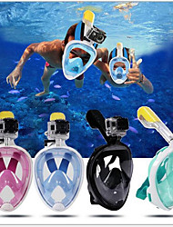 cheap -Diving Mask Full Face Mask Single Window - Swimming Silica Gel - For Kid's Adult's Black / 180 Degree View / Leak-Proof / Anti Fog / Dry Top