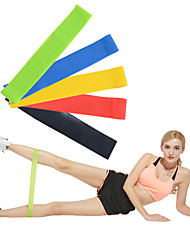cheap -Exercise Resistance Bands Emulsion Calories Burned Non Toxic Stretchy Strength Training Physical Therapy Yoga Pilates Fitness For Home Office