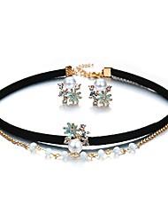cheap -Crystal Jewelry Set Flower Ladies Bohemian European Fashion Boho Pearl Earrings Jewelry Rainbow For Party Birthday