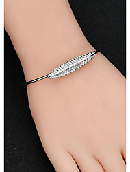 cheap -Women's Cuff Bracelet Leaf Ladies Vintage Basic Metal Bracelet Jewelry Gold / Silver For Daily Street