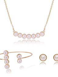 cheap -Women's Pearl Jewelry Set Ladies Vintage Sweet Fashion Pearl Earrings Jewelry Gold For Going out Birthday