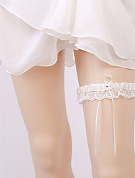 cheap -Chiffon Satin Classic Jewelry / Vintage Style Wedding Garter With Ruffle Garters Wedding / Party & Evening