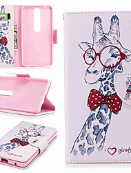 cheap -Case For Nokia Nokia 8 / Nokia 6 / Nokia 6 2018 Wallet / Card Holder / with Stand Full Body Cases Animal Hard PU Leather