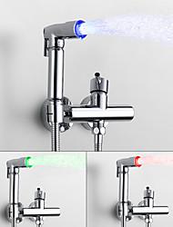 cheap -Bidet Faucet ChromeToilet Handheld bidet Sprayer Self-Cleaning Contemporary / Single Handle Two Holes