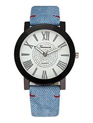 Недорогие -Муж. Нарядные часы Стеганная ПУ кожа Синий / Цвета морской волны 30 m Секундомер Творчество Крупный циферблат Аналоговый Роскошь Классика - Темно-синий Синий Один год Срок службы батареи / SSUO LR626