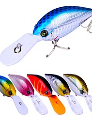 cheap -6 pcs Crank Fishing Lures Hard Bait Crank Outdoor Sinking Bass Trout Pike Bait Casting Lure Fishing General Fishing Plastic