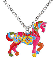 cheap -Pendant Necklace Horse Unicorn Animal Ladies European Fashion Alloy Gold Silver 62 cm Necklace Jewelry For Daily
