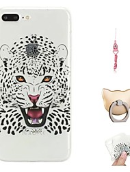 cheap -Case For Apple iPhone X / iPhone 8 Plus / iPhone 8 Pattern Back Cover Animal Soft TPU