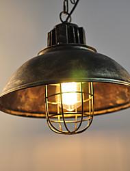 Недорогие -CXYlight 34 cm Подвесные лампы Металл чаша Окрашенные отделки Деревенский стиль / Ретро 110-120Вольт / 220-240Вольт