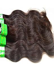 Недорогие -6 Связок Индийские волосы Естественные кудри Не подвергавшиеся окрашиванию человеческие волосы Remy 300 g Плетение Естественный цвет Ткет человеческих волос / 10A