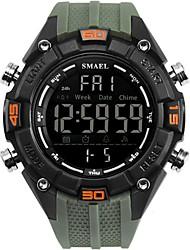 Недорогие -Муж. Армейские часы электронные часы Японский силиконовый Черный / Синий / Цвет клевера 30 m Защита от влаги Секундомер Повседневные часы Цифровой На каждый день -  / Два года / Нержавеющая сталь