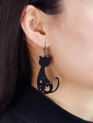 cheap -Drop Earrings Cat Flower Star Ladies Fashion Earrings Jewelry Gold / Black For Daily Date