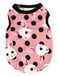 cheap -Dogs Cats Pets Vest Dog Clothes Blue Pink Costume Dalmatian Japanese Spitz Beagle Cotton / Polyester Polka Dot Animal Rabbit / Bunny Sweet Style Fashion XS S M L XL