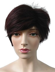 cheap -Synthetic Wig Cosplay Wig Straight Layered Haircut Wig Short Black / Red Synthetic Hair Women's Heat Resistant Women Synthetic Red / Natural Hairline / Doll Wig / Natural Hairline