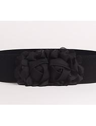 abordables -Femme Tissu Ceinture large Couleur Pleine / Polyester