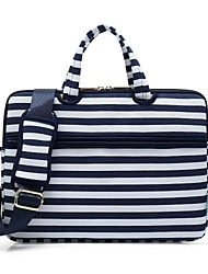 "cheap -13.3"" 14"" 15.6"" Canvas Lines Waves Shoulder Messenger Bag Briefcase Handbags for Macbook/Surface/HP/Dell/Samsung/Sony Etc"