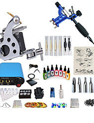 cheap -BaseKey Tattoo Machine Starter Kit - 2 pcs Tattoo Machines with 7 x 15 ml tattoo inks, Professional, Kits Alloy Mini power supply Case Not Included 20 W 1 rotary machine liner & shader, 1 alloy