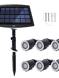 cheap -YWXLIGHT® 6pcs 0.2 W Underwater Lights / Lawn Lights Waterproof / Solar / Dimmable Warm White / Natural White 3.7 V Outdoor Lighting / Swimming pool / Courtyard 6 LED Beads