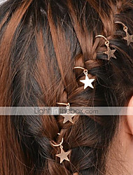 cheap -Women's Simple Classic & Timeless Cute Alloy Head Jewelry Hair Charms Hair Rings Party Daily - Solid Colored