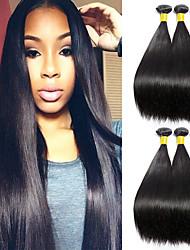 cheap -6 Bundles Malaysian Hair Straight Human Hair Natural Color Hair Weaves / Hair Bulk Human Hair Extensions Human Hair Weaves Best Quality New Arrival Human Hair Extensions / 8A