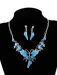 cheap -Jewelry Set Butterfly Ladies Bohemian European Boho Earrings Jewelry Green / Blue / Pink For Party Ceremony Evening Party