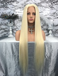 cheap -Remy Human Hair Lace Front Wig Kardashian style Brazilian Hair Straight Wig 130% Density Women's Long Human Hair Lace Wig beikashang