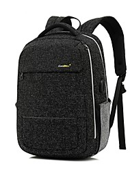 """cheap -Coolbell 14"""" Laptop / 15"""" Laptop Commuter Backpacks Nylon Solid Colored for Business Office for Colleages & Schools for Travel Water Proof Shock Proof with USB Charging Port / Headphones Hole"""